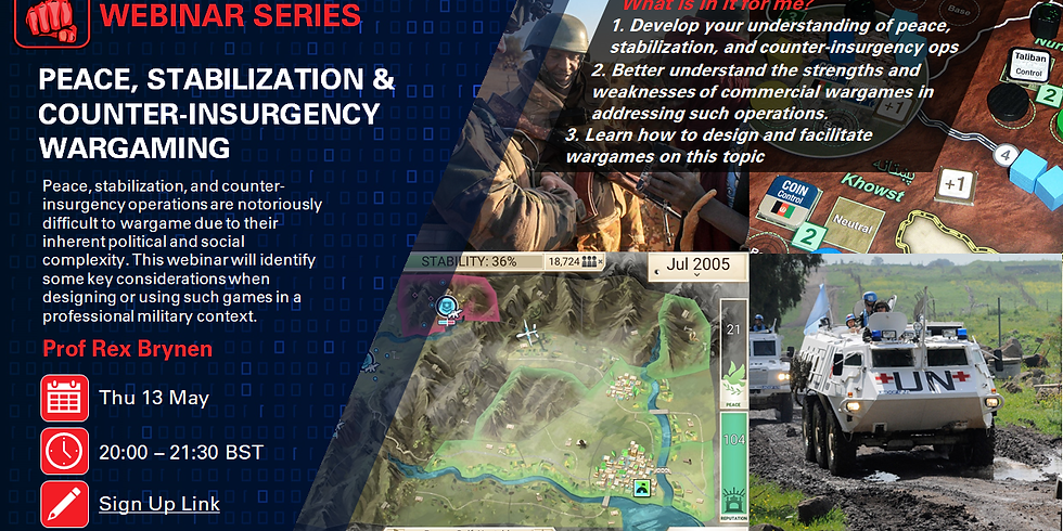 Peace, Stabilization & Counter-insurgency Wargaming