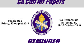 Reminder! CA Call for Papers