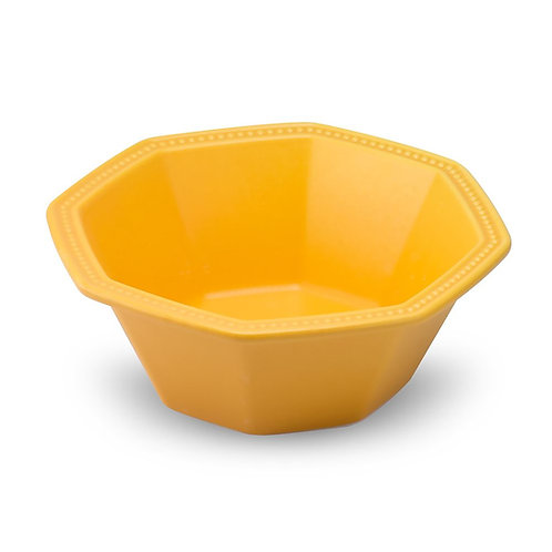 瑞典【GREEGREEN】 匈牙利八角陶瓷沙拉碗 (明黃)