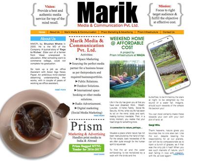 Marik media web design