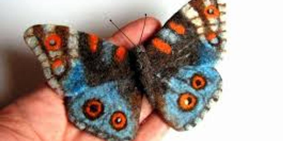Wool felting workshop - Spring Butterflies!