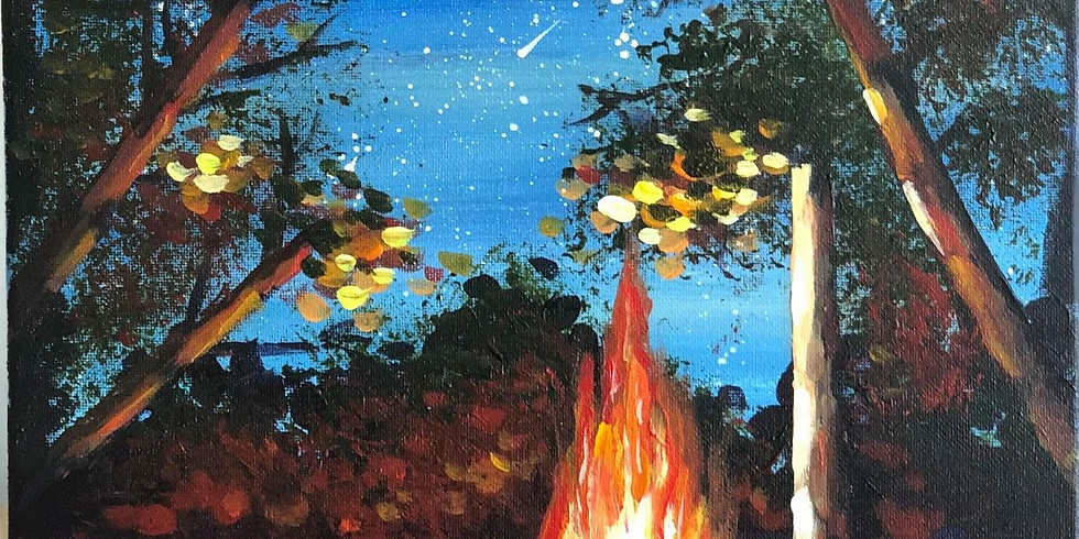 """Painting Workshop """"Starry Night by the Bonfire"""""""