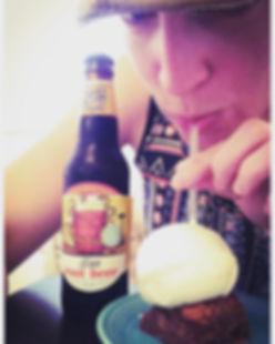 The best root beer float! Beer Brownie w