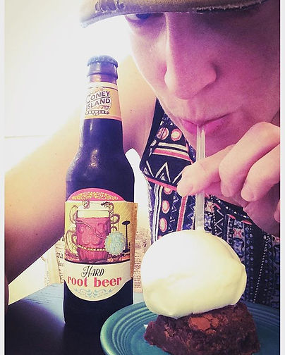 The best root beer float! Beer Brownie w