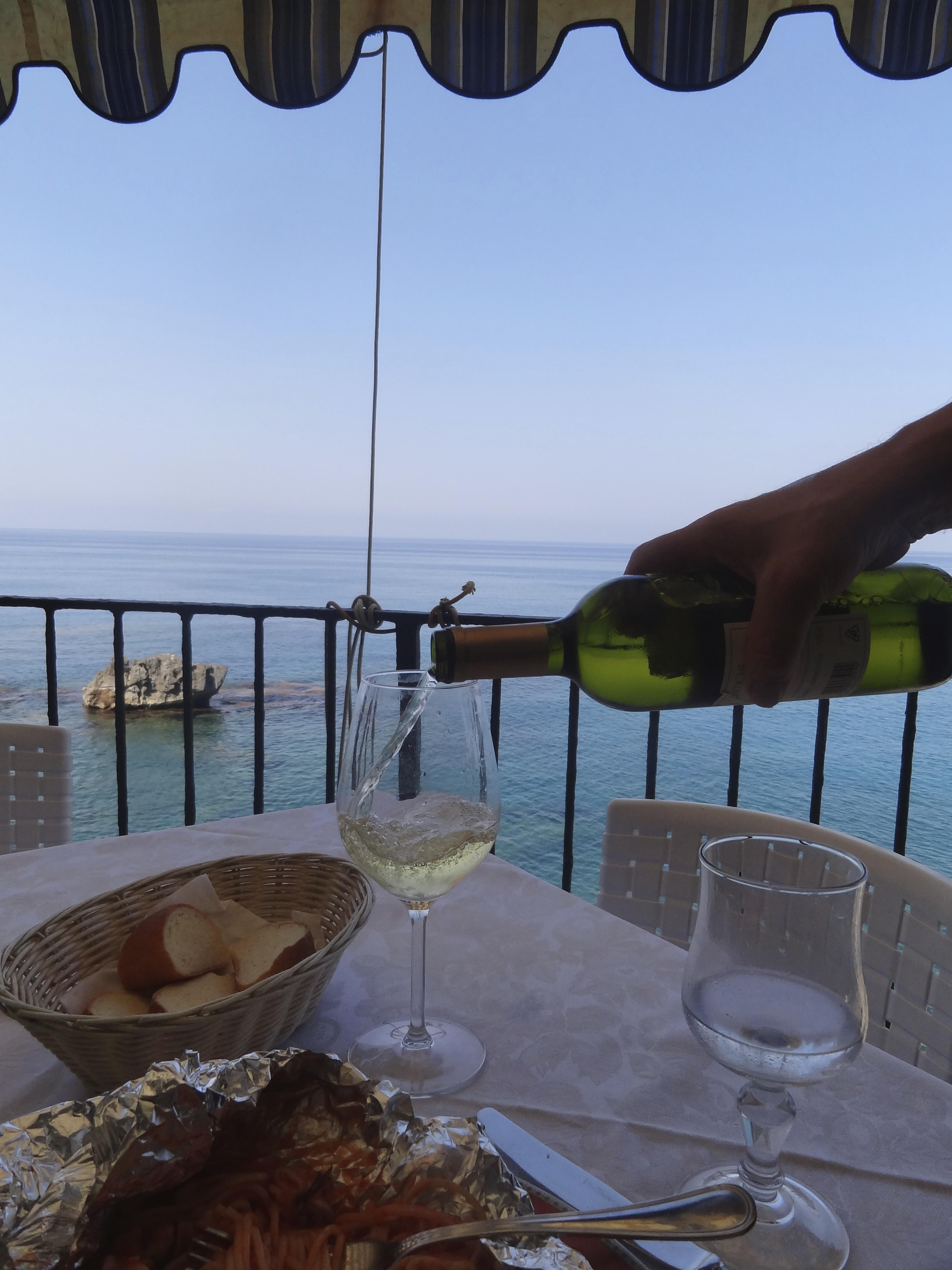 爽やかな海のレストラン