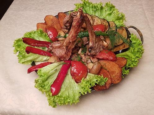 Садж из бараньей корейки 950 гр