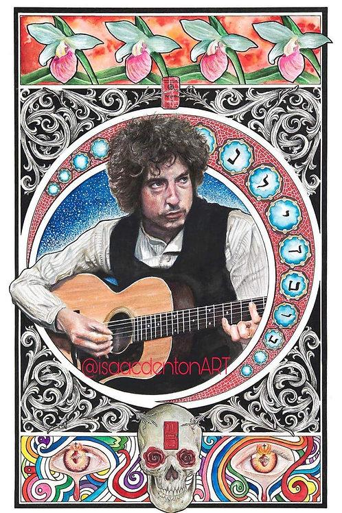 "Bob Dylan 12.5"" x 20.25"""