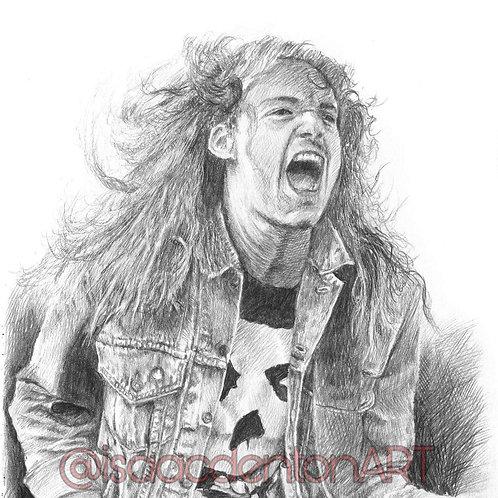 Cliff Burton (Metallica) 5 x 8