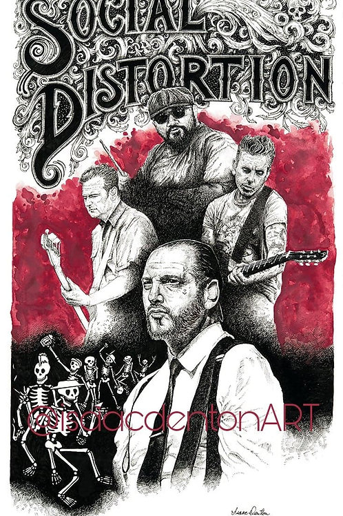 "Social Distortion 15"" x 25"""