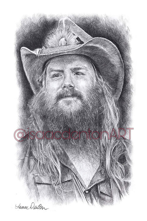"Chris Stapleton 5"" x 8"""