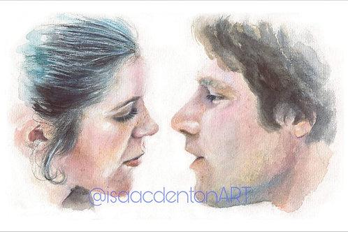 "Han and Leia 5"" x 8"""