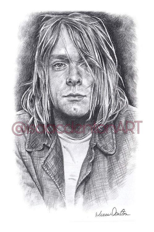 "Kurt Cobain II 5"" x 8"""