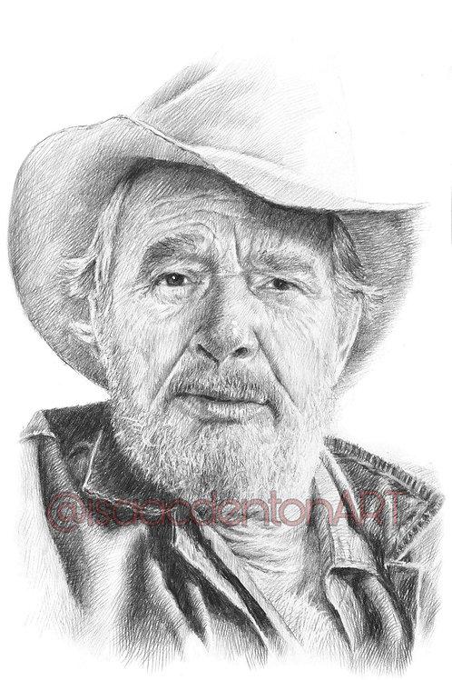 Merle Haggard 5 x 8