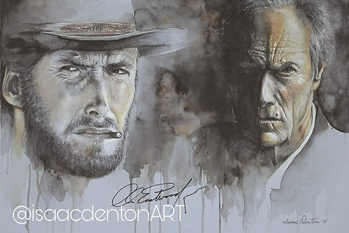 Clint Eastwood Giclee Limited Edition  Print 16.5 x 24