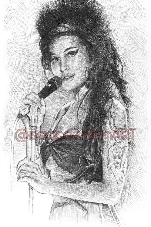 Amy Winehouse 5 x 8