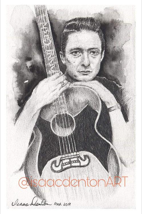 "Johnny Cash 5"" x 8"""