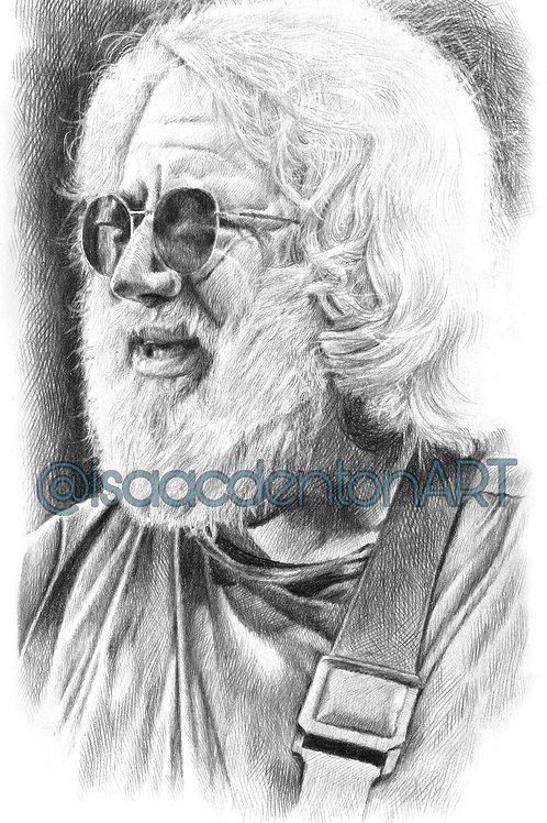 """Jerry Garcia 5"""" x 8"""""""