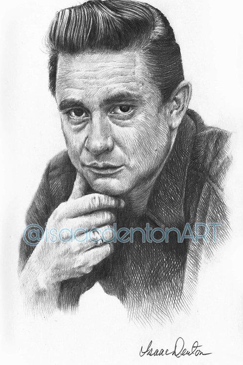 "Johnny Cash II 5"" x 8"""