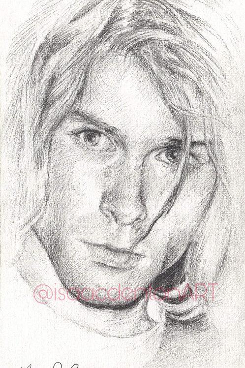 """Kurt Cobain 5"""" x 8"""""""