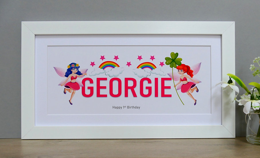 Framed fairy themed personalised name