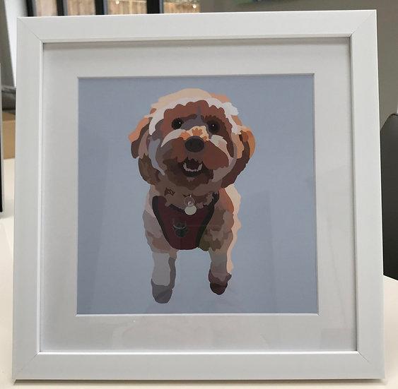 Framed digital pet print