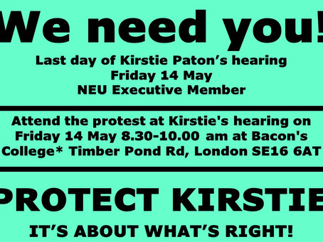 Defend Kirstie Paton Final day of her hearing