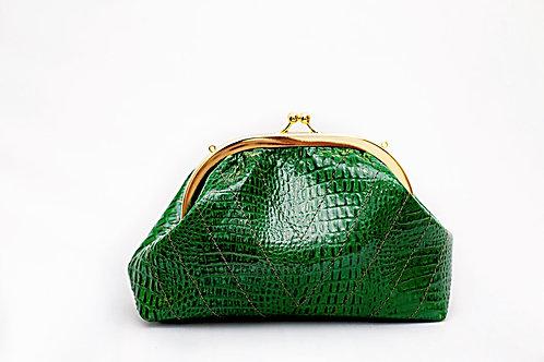 Bolsa lola - croco verde