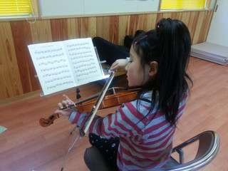 新年度の最初の大槌バイオリン教室