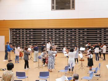 相馬子どもオーケストラ みんなで輪になって練習!