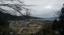 大槌町を見渡せる城山の会場