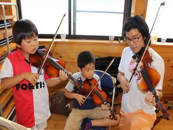 にぎやかな大槌の弦楽器教室