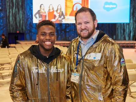 PepUp Tech Featured at New York City Salesforce World Tour. Student receives the highly coveted Gold