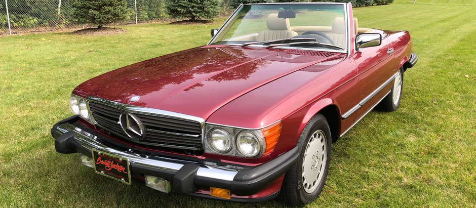 Final-Year-Only optioned Garnet Red 1989 Mercedes 560SL
