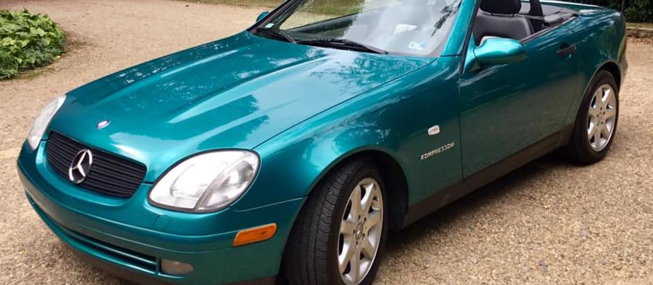 Should premium color command premium price? Calypso Green 1998 SLK230