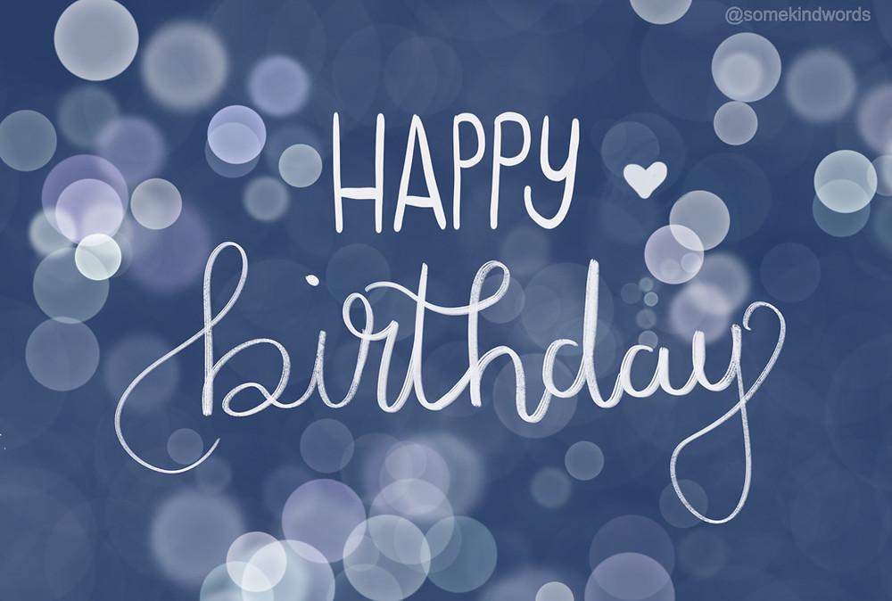 Happy Birthday Card blue bubbles by Somekindwords, happy birthday, geburtstag, karte, kostenlos, versenden, zum ausdrucken, Geburtstagskarte, happy birthday karte, glückwünsche, digital, speichern, vorlage,  kostenlos