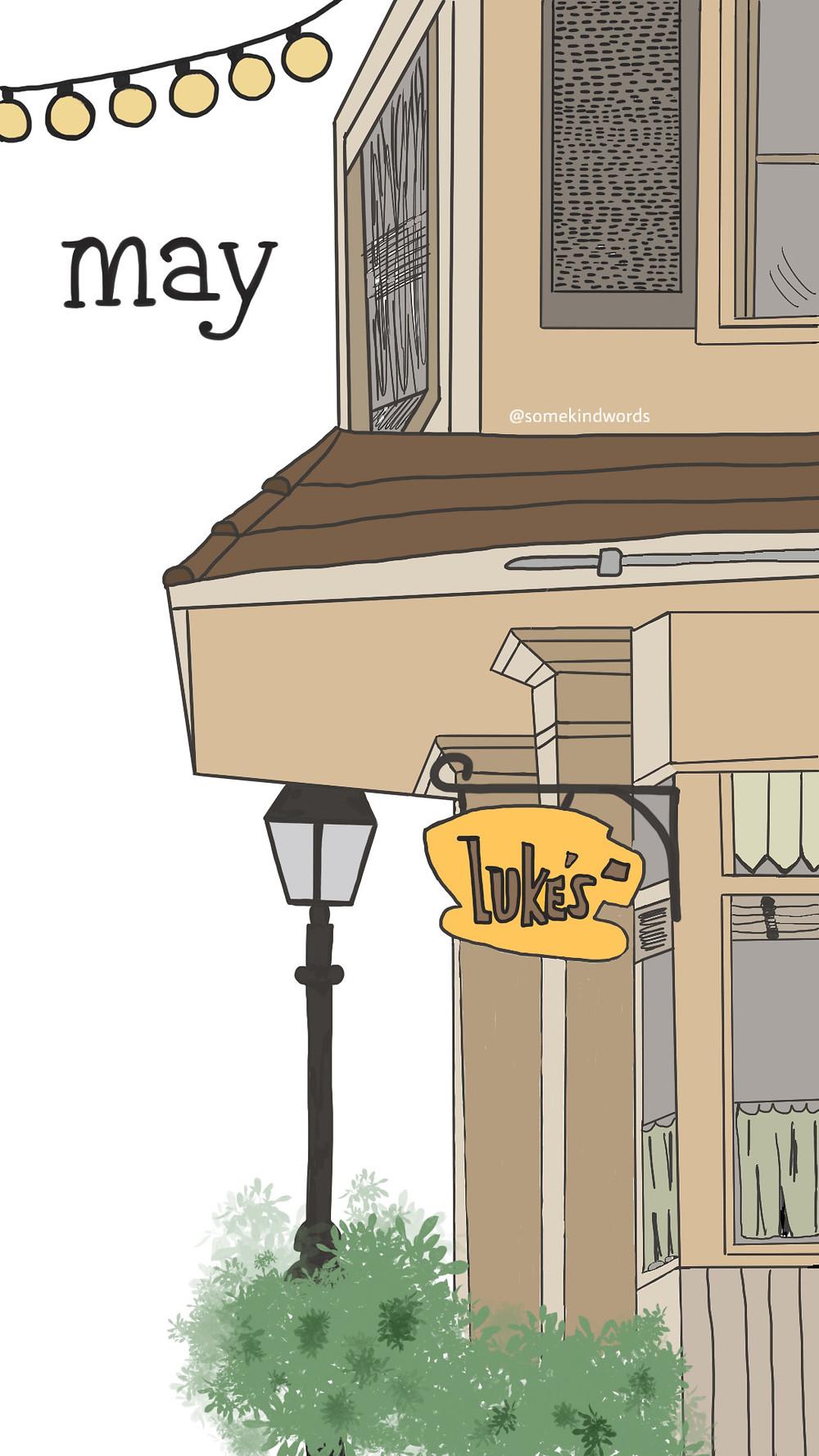 May Cover Page | Gilmore Gils | Coffee | Luke's Diner | Wallpaper | kostenlos | Hintergrundbild