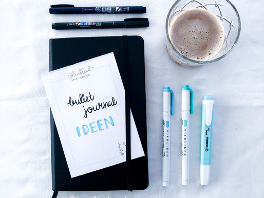 15 ideas for your Bullet Journal - making pages simple and useful
