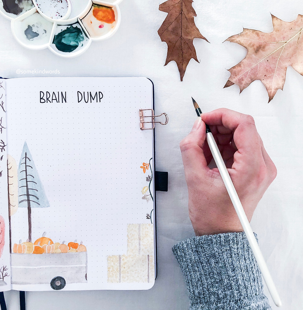 brain dump, page ideas, bullet journal spreads, bullet journal inspiration, what's brain dumping, brain dump method, mental health, selfcare bullet journal, planner spreads, brain dump page, bujo spreads, bullet journal method, bullet journal set up, how to use a brain dump page, journal ideas, journal spreads, journal brain dump