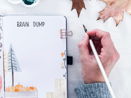 How to use a brain dump spread - sort thoughts, reduce stress with your Bullet Journal