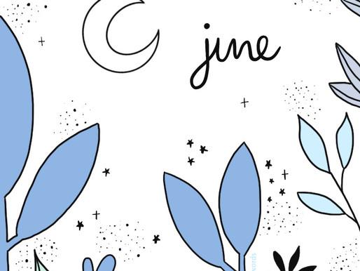 "June Freebie: Bullet Journal Cover Page ""Jungle Dreaming"" Wallpaper"