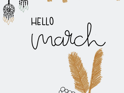 """March Freebie: Bullet Journal Cover Page """"Boho"""""""