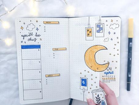 Tutorial: How to create a Dutch Door Spread in your Bullet Journal