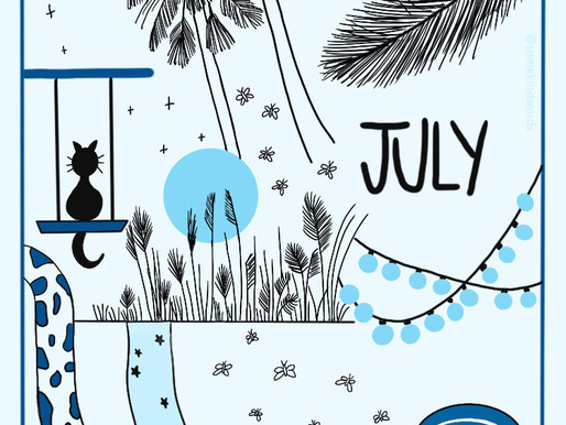 """Juli Freebie: Bullet Journal Cover Page """"blue aesthetic"""""""