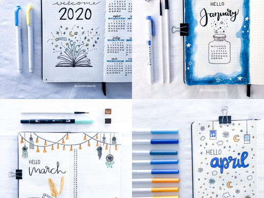 36 theme ideas for your Bullet Journal year
