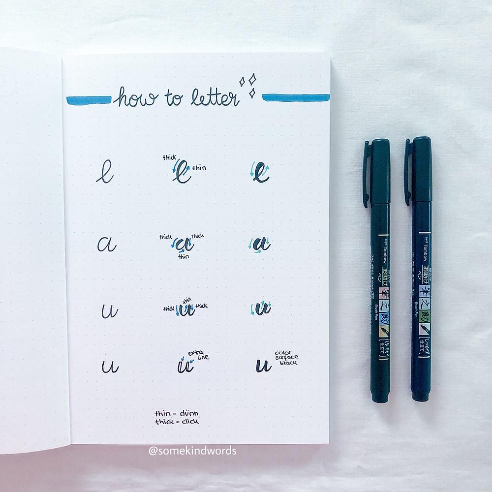 handlettering, bullet journal, header, ideen, überschriften, kalligraphy, titel, schöne schrift, schriftart, schön schreiben, handlettering lernen, erklärung, tutorital, brush pen, brush lettering, journal, bujo lettering, handlettering inspiration, alphabet, juni, june, kalender schön gestalten, wie geht handlettering, einfach lettering, einfaches handlettering, was ist kalligraphie, lettering mit brush pen, tombow brush pen, was ist handlettering