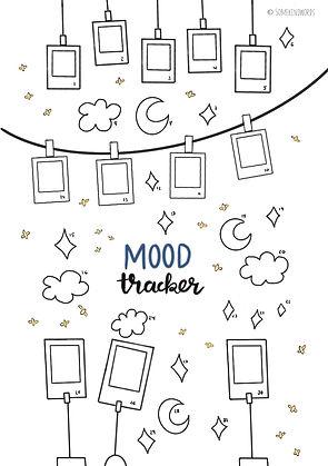 Mood Tracker Vorlage zum ausdrucken, Mood trackern, Stimmungen aufschreiben, bullet journal gestalten, notizbuch, printable, freebie, pdf, deutsch, mood tracker ideen, vorlage, kalender notizbuch, kreativ gestalten, template, bullet journal habits, gewohnheiten