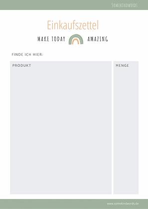 Einkaufszettel, einkaufsliste, einkaufen, einkauf planen, wocheneinkauf, liste, zum ausdrucken, kostenlos, free printable, pdf, vorlage, liste zum ausdrucken, kostenlos, regenbogen, schön, modern, planung, organisation, shopping list, template