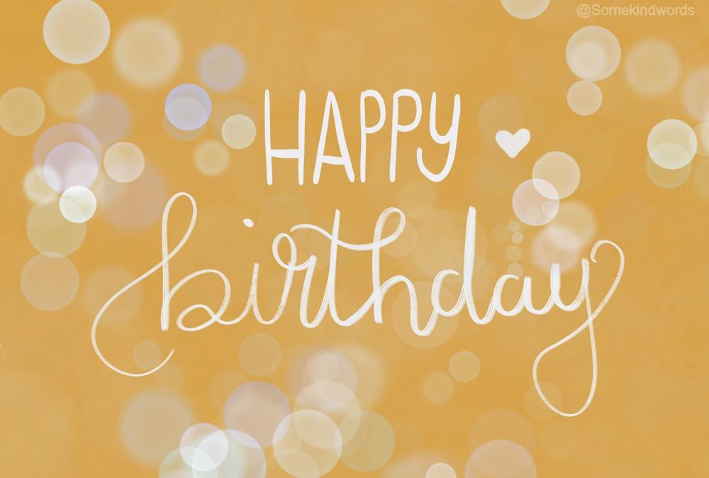 Happy Birthday Card yellow bubbles by Somekindwords, happy birthday, geburtstag, karte, kostenlos, versenden, zum ausdrucken, Geburtstagskarte, happy birthday karte, glückwünsche, digital, speichern, vorlage,  kostenlos