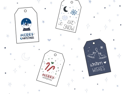DIY Freebie: Christmas gift tags for printing and crafting