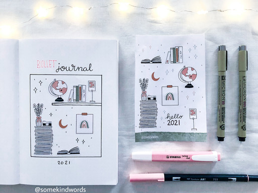 Bullet Journal set up idea for 2021 and matching sticker sets